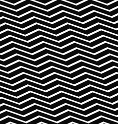 Seamless black and white chevron pattern vector image