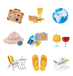 tourism and vacation icons vector image vector image