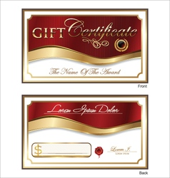 Voucher Gift certificate Coupon template vector image