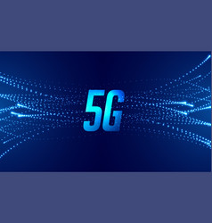 5g fifth generation fast speed telecom technology vector image