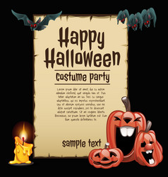 a poster on the theme of the halloween holiday a vector image