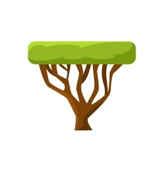 African tree drawing vector