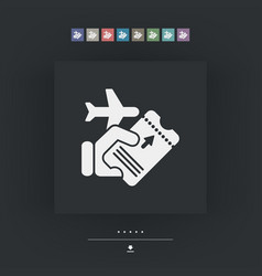 airline ticket vector image