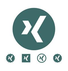 Astana kazakhstan -10 july 2020 xing icon xing vector