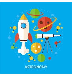 Astronomy science flat concept vector