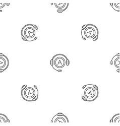 Audio book listen pattern seamless vector