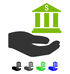 Bank service hand flat icon vector