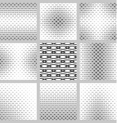 Black and white curved shape pattern design set vector image