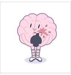 Boom brain vector