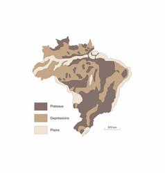 Brazil relief variations vector