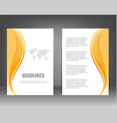 business brochure flyer template vector image vector image