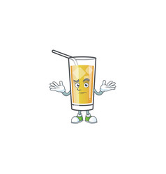 Cartoon apple cider with character grinning vector