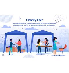 Charity organization fair flat poster vector