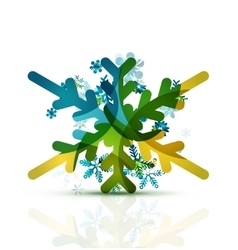 Christmas decorated modern snowflake icon vector image