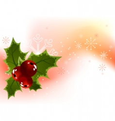 Christmas holly berry background vector image