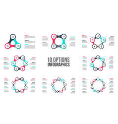 circle elements for infographic template vector image