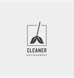 cleaner green environment simple logo template vector image