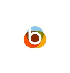 Color letter b logo icon design vector