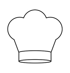 contour of chefs hat in crown shape vector image