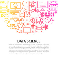 data science line concept vector image