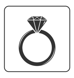 Diamond engagement ring icon 7 vector image
