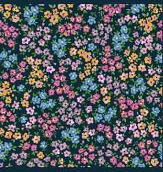 Ditsy flowers hand drawn seamless pattern vector