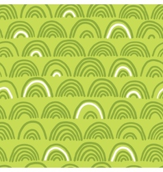 Doodle seamless wave pattern vector image
