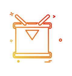 drum icon design vector image