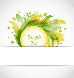 Eco Floral Transparent Frame vector image