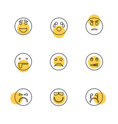 Emoji emoticons eomtions smileys eps icons set vector