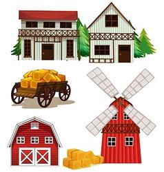 Farm buildings vector image