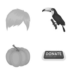 fashion vegetable and other monochrome icon in vector image