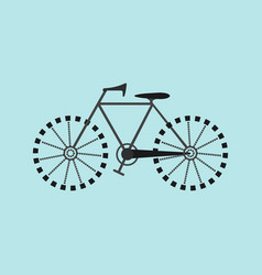 flat bicycle icon vector image