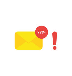 flat design style concept of enveleope email and vector image