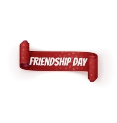Friendship Day greeting red Ribbon vector