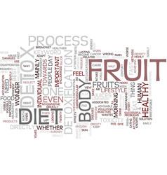 Fruit detox diet text background word cloud vector