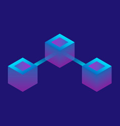 futuristic connection icon isometric style vector image