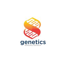 genetic logo designs simple modern for medical vector image