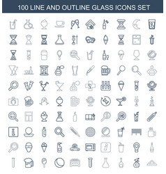 Glass icons vector