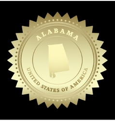 Gold star label alabama vector
