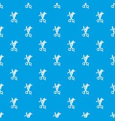haircut pattern seamless blue vector image
