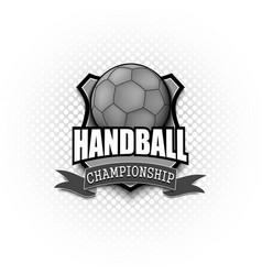 handball logo template design vector image