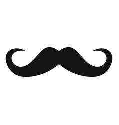Handlebar mustache icon simple style vector