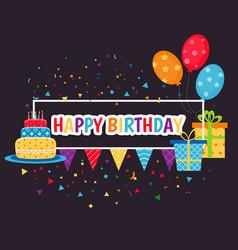 happy birthday sign happy birthday sign vector image