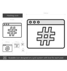 Hashtag line icon vector image
