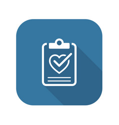 health tests and medical services icon vector image