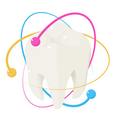 healthy tooth icon isometric style vector image