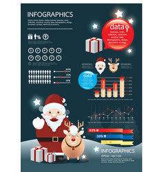 holiday christmas infographic vector image