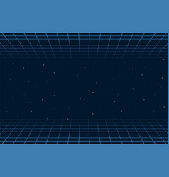 horizontal matrix grid in space futuristic vector image