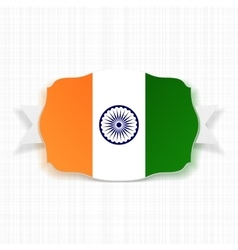 India Flag Label with Ribbon vector